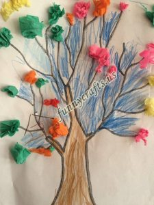 tissue paper tree art actvities (8)