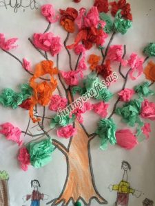 tissue paper tree art actvities (9)