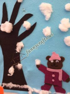 winter craft with felt
