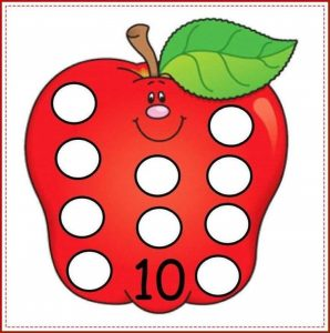 apple number cards (10)