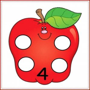 apple number cards (4)