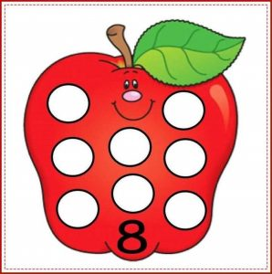 apple number cards (8)
