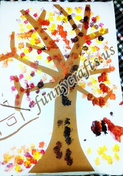 Autumn Tree Funny Crafts