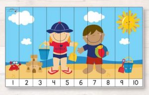beach  number sequence puzzles