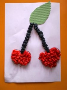 cherry tissue paper art projects