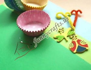 cupcake spring flower liner crafts (3)