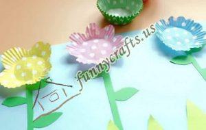 cupcake spring flower liner crafts (4)