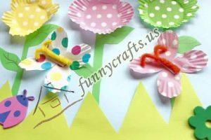 cupcake spring flower liner crafts (5)
