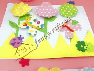 cupcake spring flower liner crafts (8)