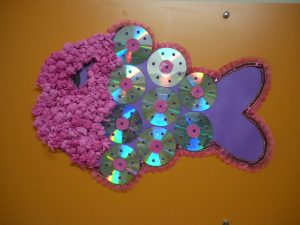 fish tissue paper art projects