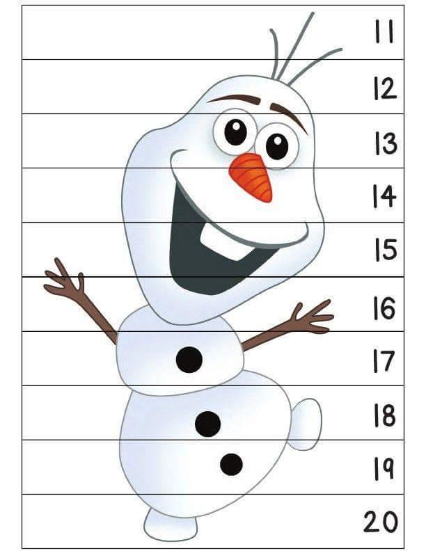 frozen snowman number sequence