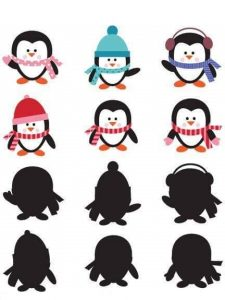 penguin shadow matching sheets