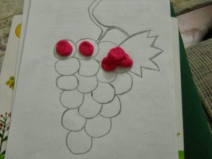 play dough grape activity
