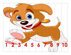 puppy dog  number sequence puzzles