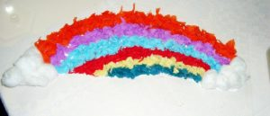 rainbow tissue paper art projects