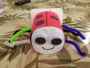yogurt cup bug craft