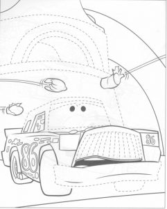 Light mcqueen coloring pages (6)