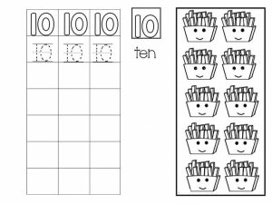 Number writing free sheets (10)