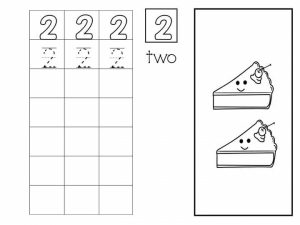 Number writing free sheets (2)