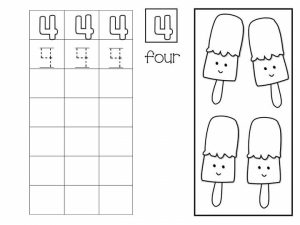 Number writing free sheets (4)