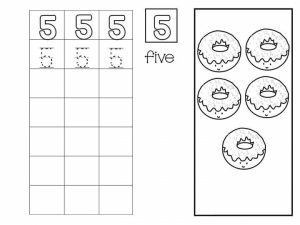 Number writing free sheets (5)