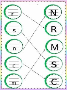 Uppercase lowercase letter sheets (2)