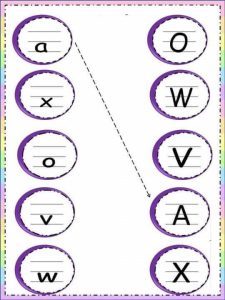 Uppercase lowercase letter sheets (4)