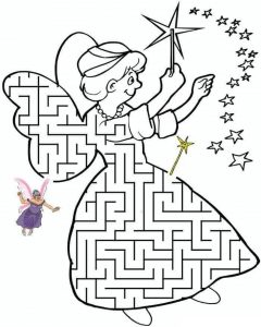 angel maze worksheets