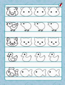 animals pre writing sheet