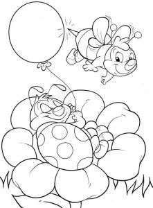 bee coloring page (2)