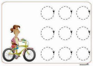 biycle pre writing sheet