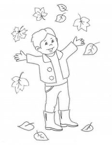 boy pre writing sheet