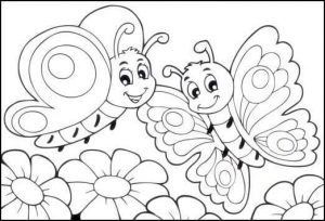 butterfly coloring page (2)