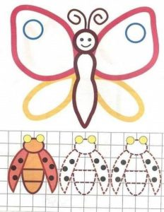 butterfly tracing and coloring worksheets