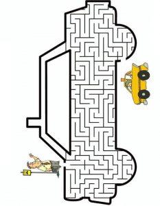 car maze worksheets