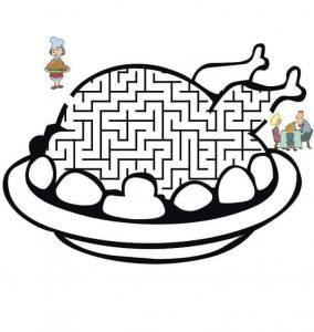 chicken maze worksheets