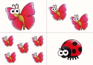 counting activities  with butterfly