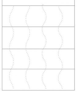 cutting practice worksheet - zig zag lines (2)