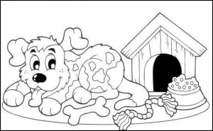 Dog House Coloring Page 2