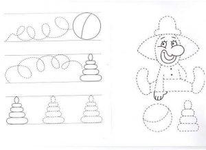 dolls pre writing sheet
