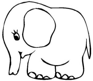elephant baby coloring pages