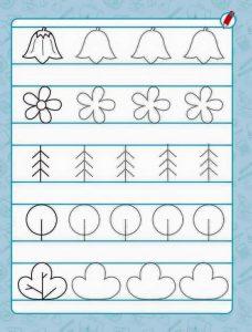 flowers pre writing sheet
