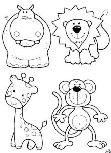 forest animal coloring page