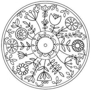 Mandala coloring sheets funnycrafts