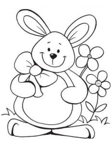 fun bunny coloring pages