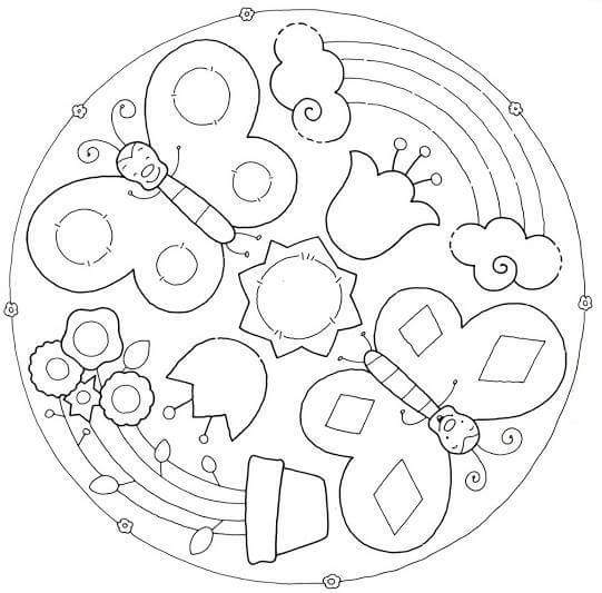 fun mandala coloring pages (4) « Preschool and Homeschool