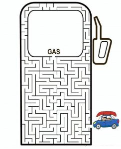 gas maze worksheets