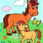 Animals and their babies coloring pages