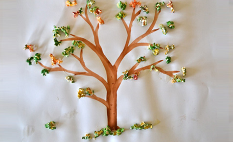 how to make popcorn tree