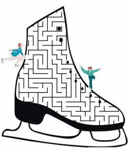 ice hockey maze worksheets